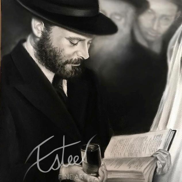 Rebbe at a Chuppah