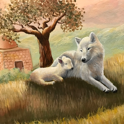 Wolf & Lamp