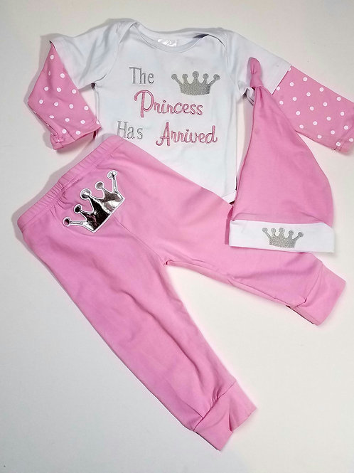 Infant / toddler 3pc princess outfit
