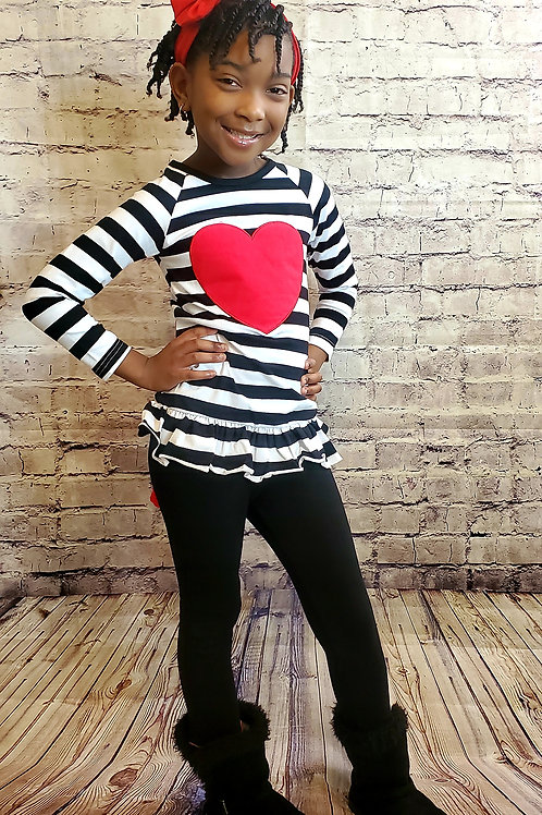 Striped Heart Outfit