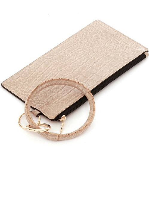 Bangle bracelet clutch wallet