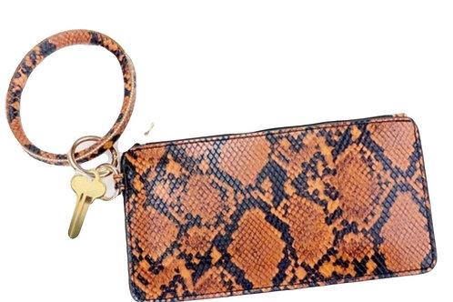 Bangle bracelet clutch wallet