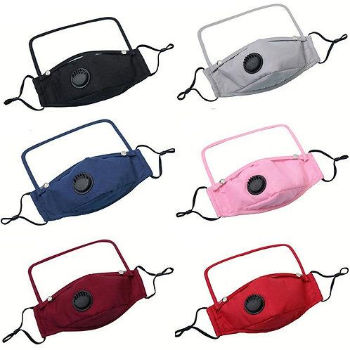 Adult face mask w/detachable shield/vent valve