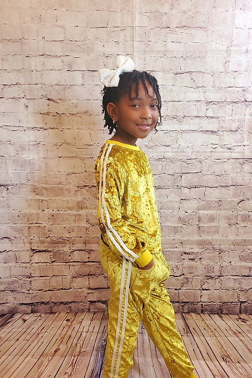 Gold Velvet Tracksuit