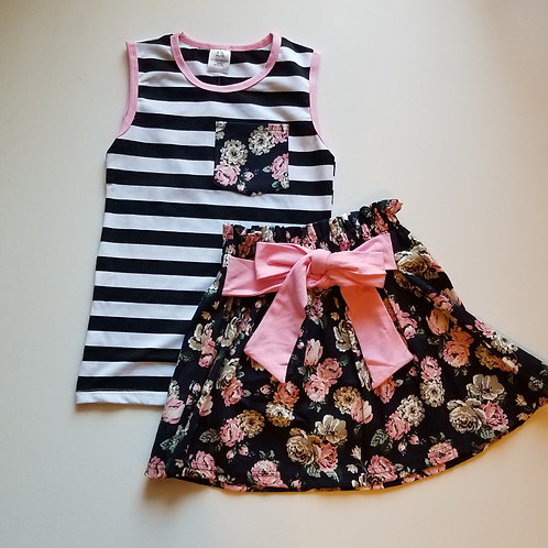 Flower skirt set