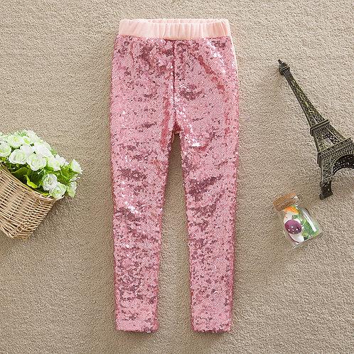 Brooke Pink Sequin Leggings
