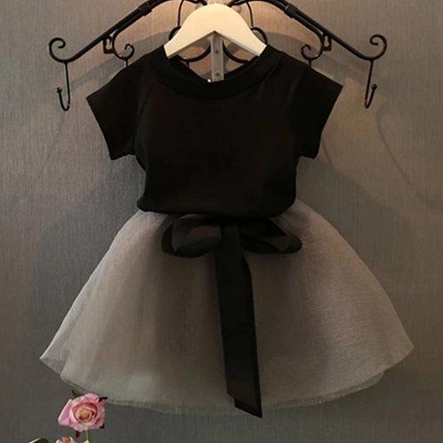 Black & Gray skirt set