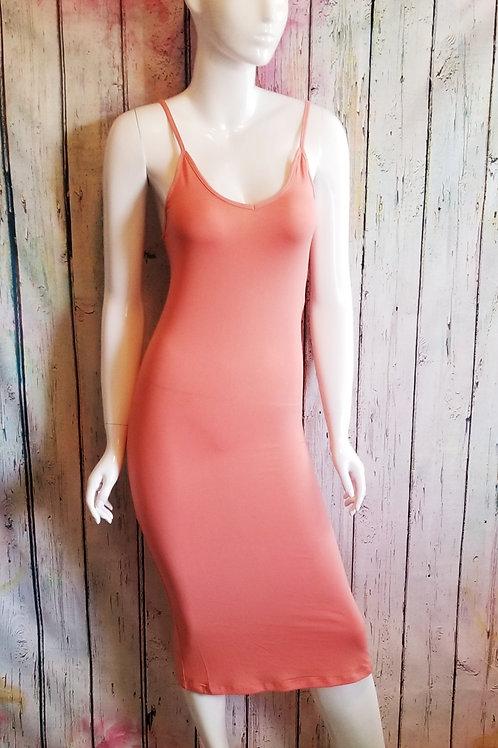 Slit Cami Dress Peach