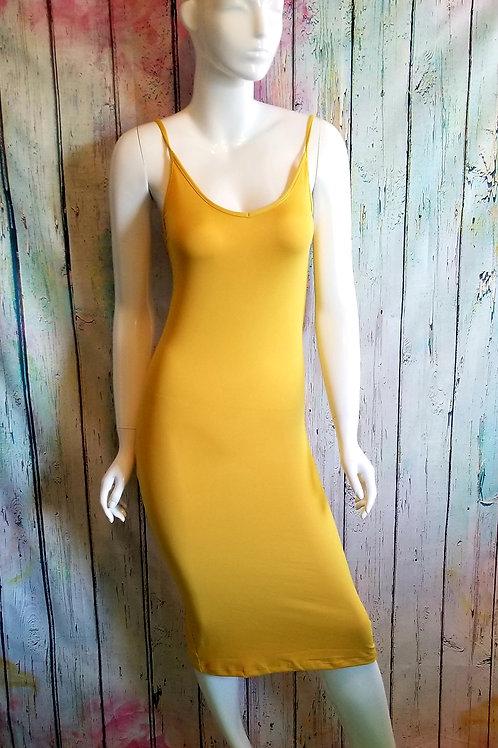 Slit Cami Dress Mustard