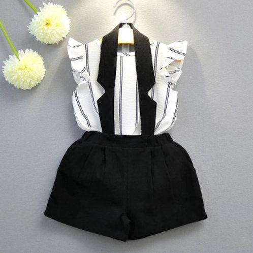 Tuxedo short set