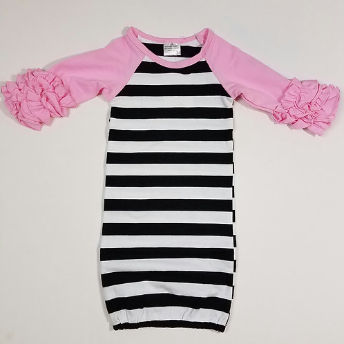 Infant striped gown