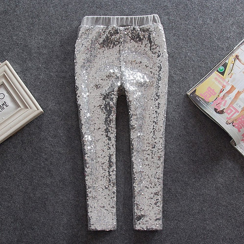 Brooke Silver Sequin Leggings