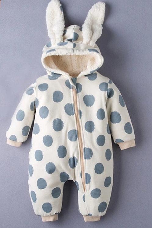 Infant bunny hoodie jumpsuit