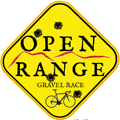 Open Range Road Sign decal