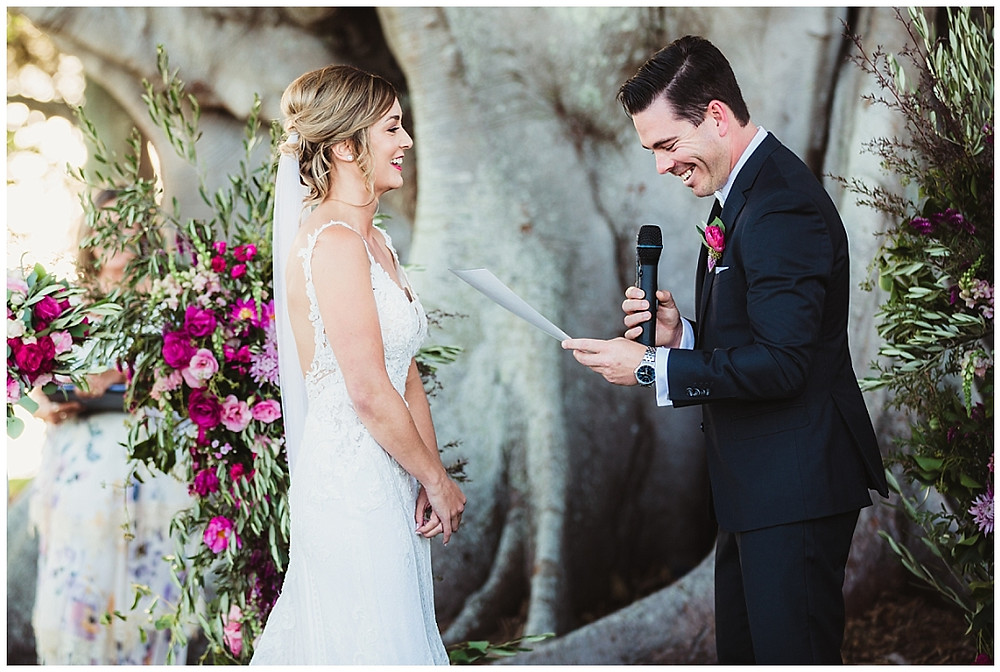 Renee and Dan were all smiles at their beautiful wedding at the historiical Stanley Park