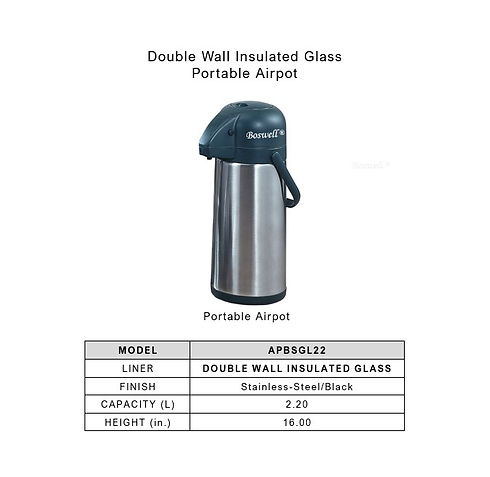 Double Wall Insulated Glass-Portable Air