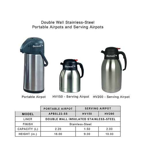 Double Wall Stainless-Steel-Portable Air