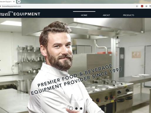 Redesigned Website for Boswell Equipment