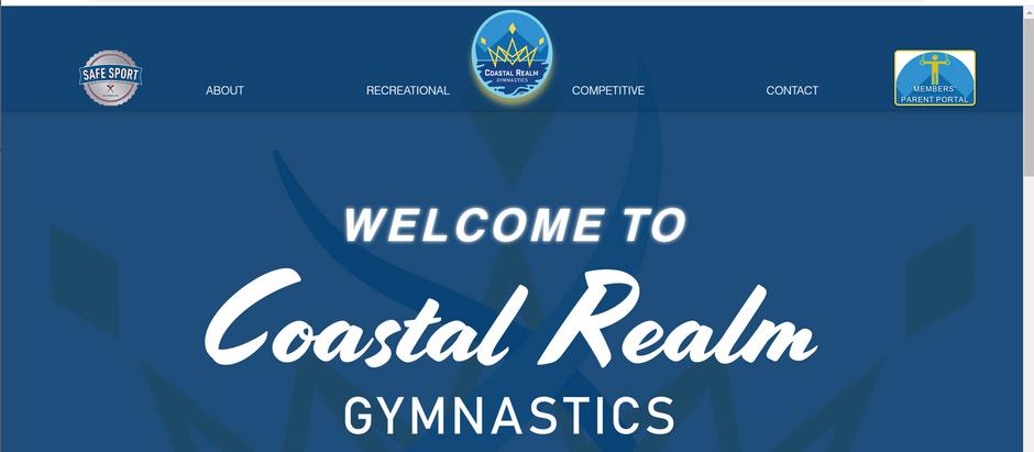 Coastal Realm Gymnastics' (CRG) Redesigned Website is Officially Live!