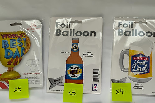 Father's Day Foil Balloons