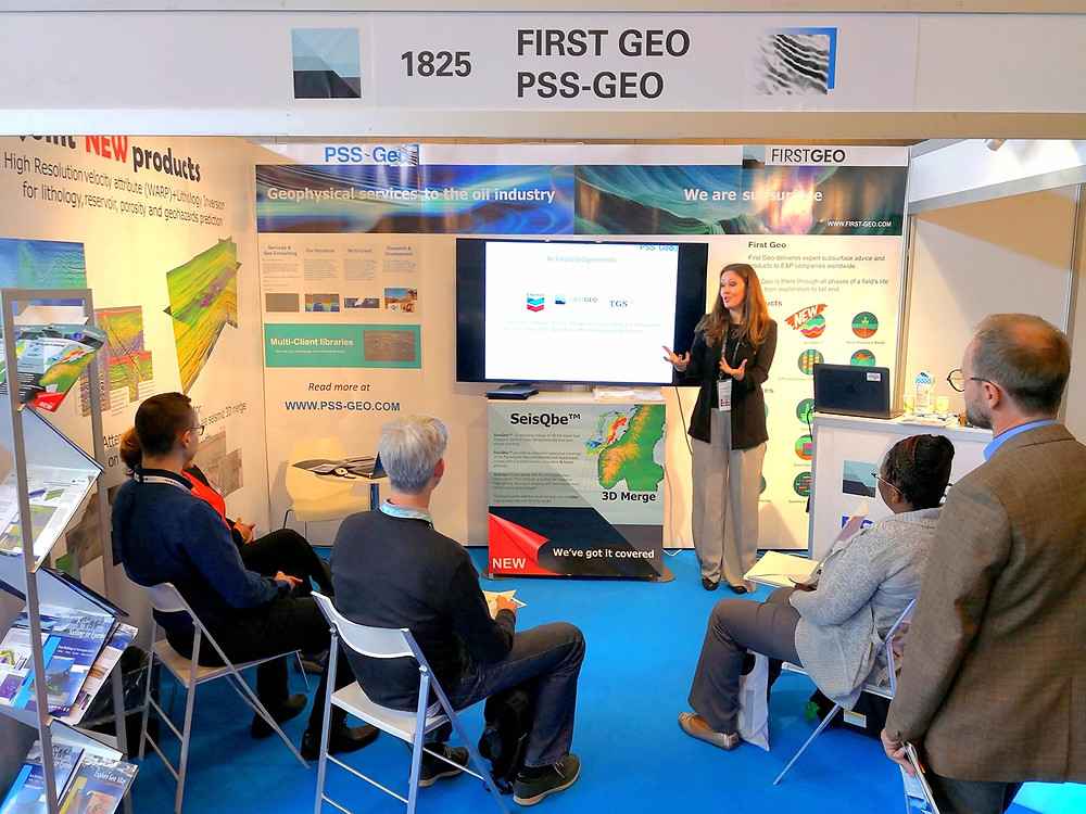 Technical presentations at the booth