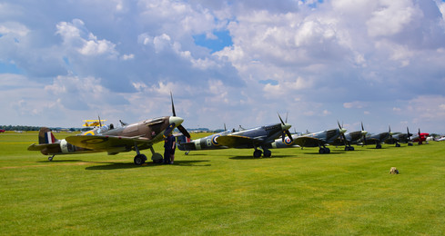 Flight Line of Spitfires (9388)