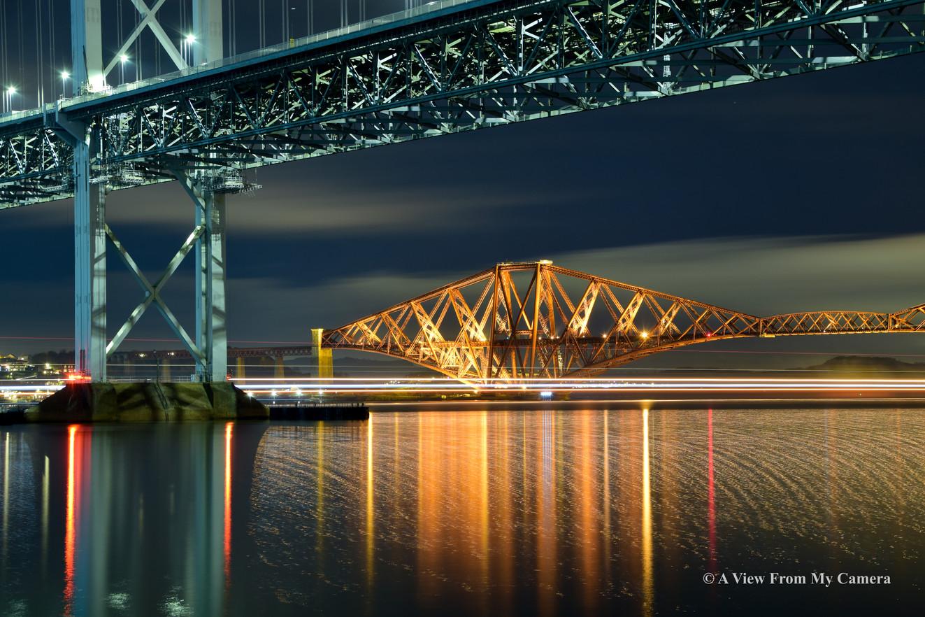 """Forth """"Rail"""" Bridge, Port Edgar (5253a)"""