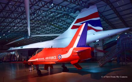Red Arrows Hawk and Concorde (1909)