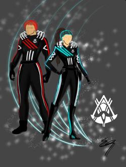 Space suit rendering