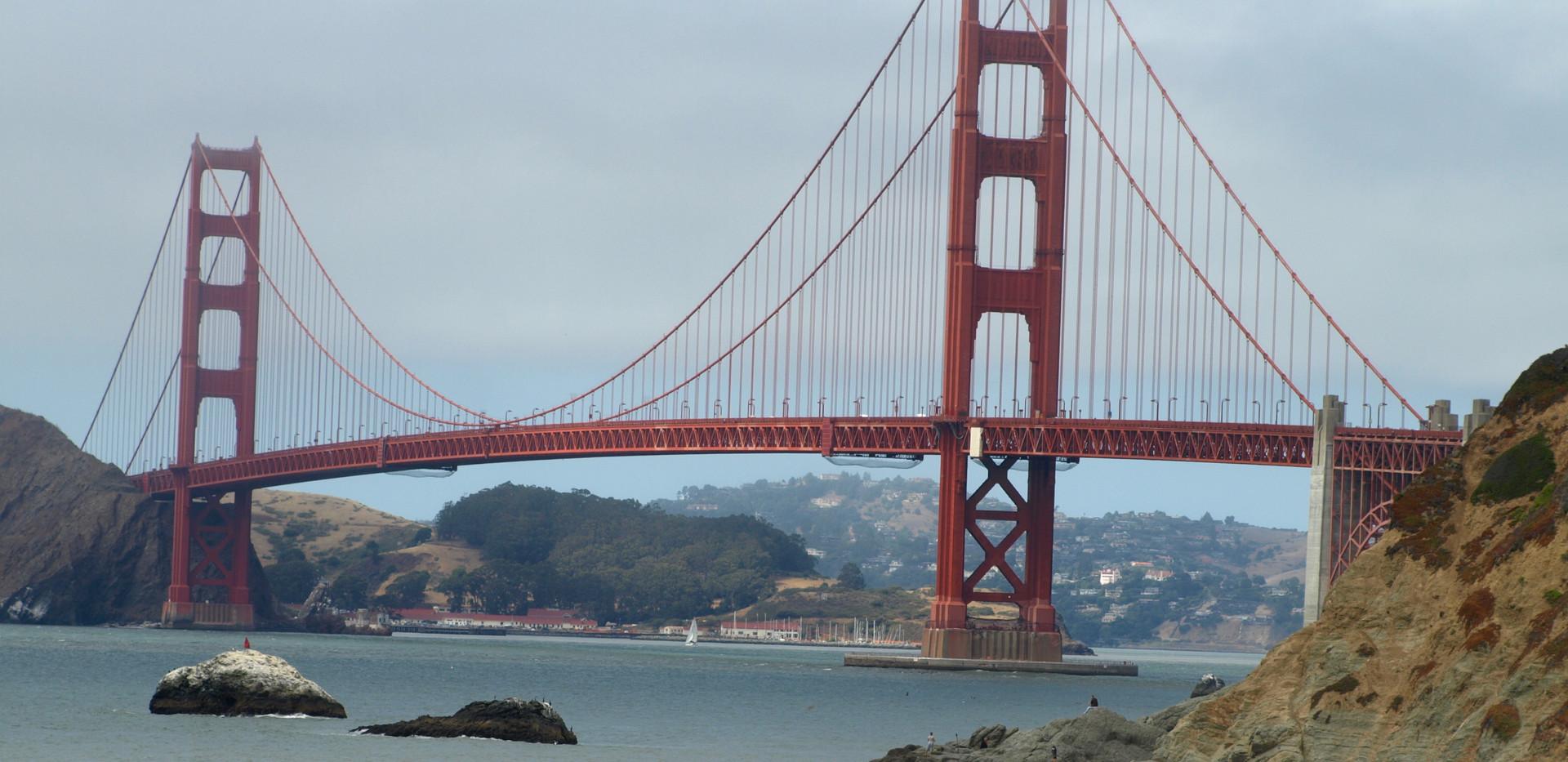 Baker Beach bridge view