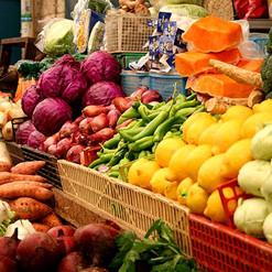 The Carmel Market in Tel Aviv