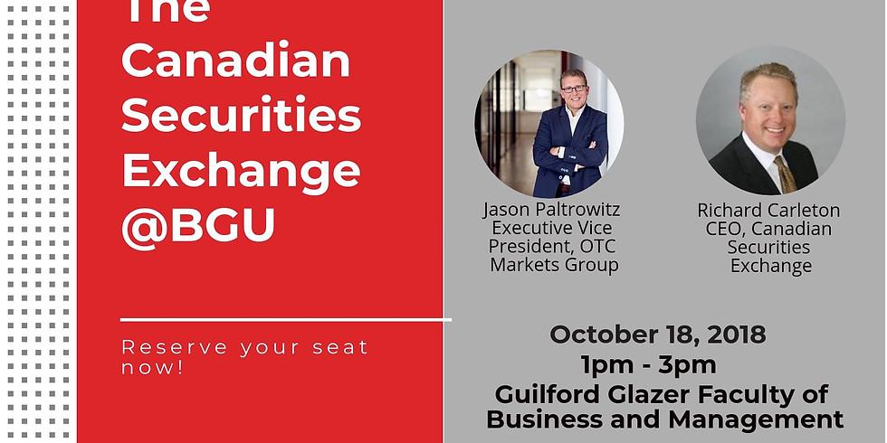 The Canadian Securities Exchange at BGU