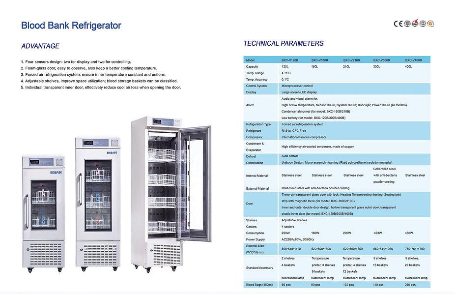 BLOOD BANK REFRIGERATOR (BXC-120B to BXC