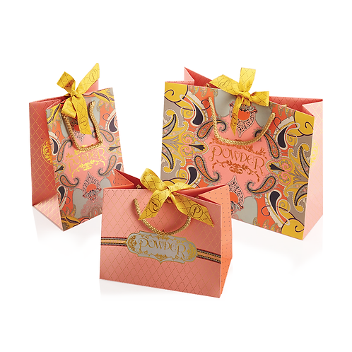 Paper Bags with Ribbon Bow