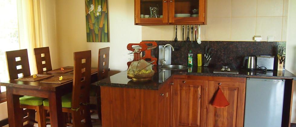 JAlak Putih kitchen- dining area