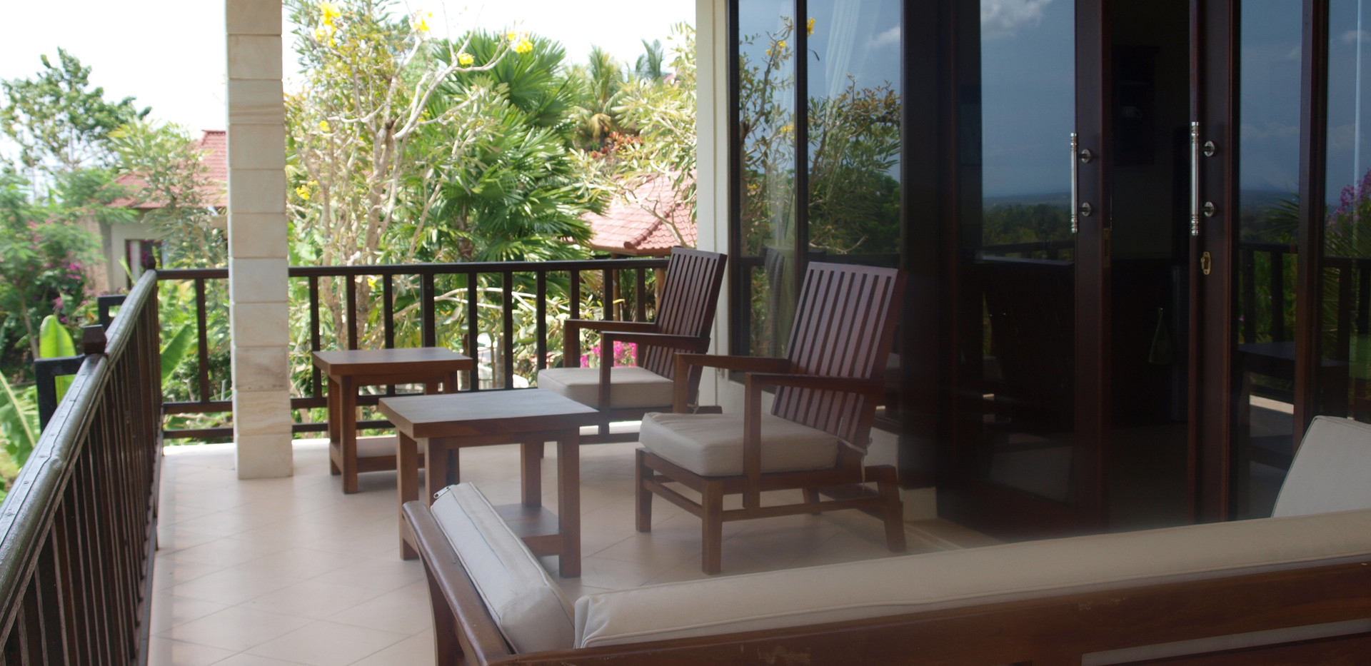 Capung upstairs balcony