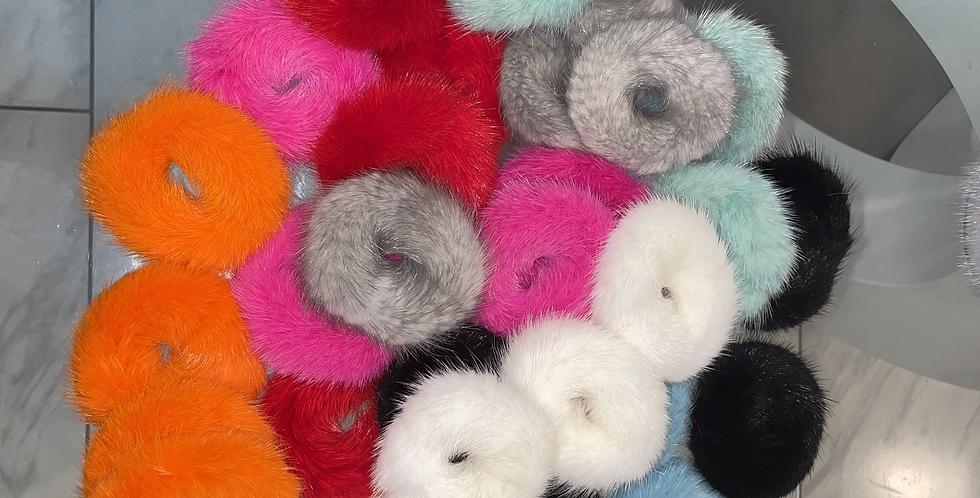 Fox Fur Scrunchies