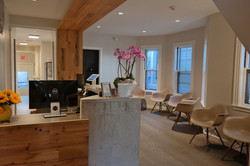 front desk, reception, waiting room