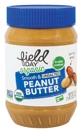 Field Day Organic Smooth & Unsalted Peanut Butter 18oz