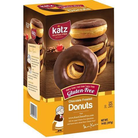 Katz GF DF Chocolate Frosted Donuts 14oz