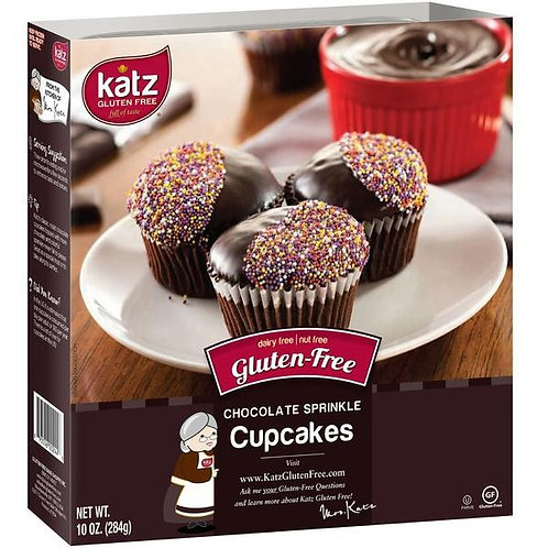 Katz GF DF Chocolate Sprinkle Cupcakes 10oz