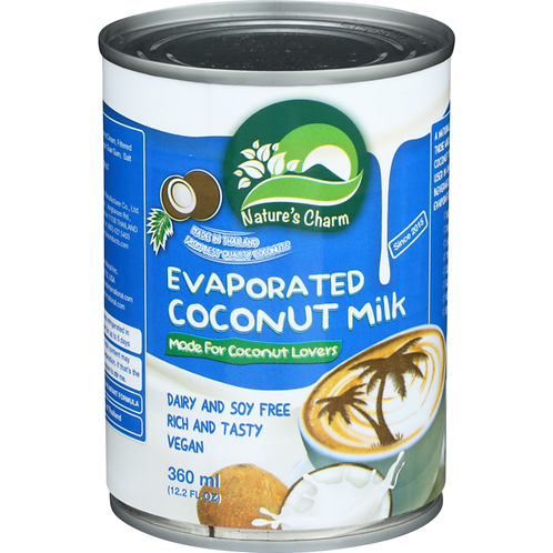 Nature's Charm DF Evaporated Coconut Milk 12.2oz