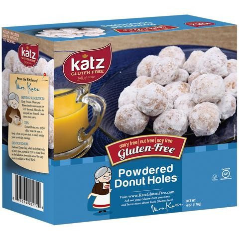 Katz GF DF Powdered Donut Holes 6oz