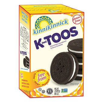 KinniToos GF DF Chocolate Sandwich Creme Cookies 8oz