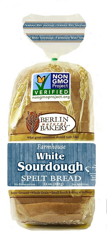 Berlin Spelt Farmhouse White Sourdough Bread 24oz
