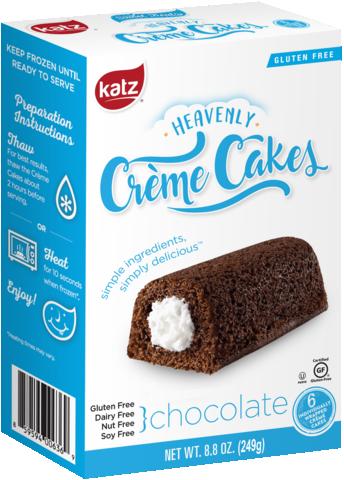 Katz GF DF Heavenly Chocolate Creme Cakes 8.8oz