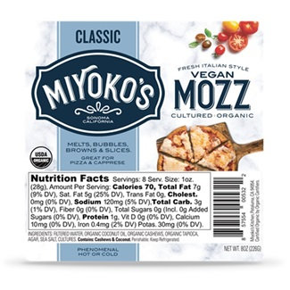 Miyoko's DF Vegan Mozzarella 8oz