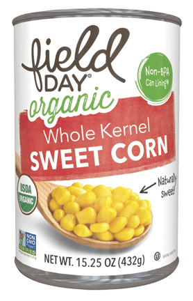 Field Day Organic Whole Kernel Sweet Corn 15.25oz