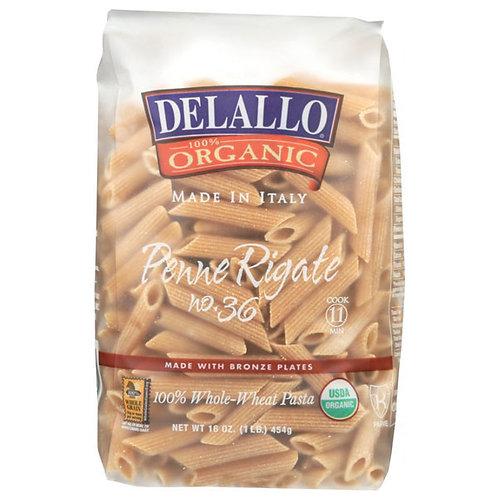 Delallo Organic Wholewheat Penne 16oz