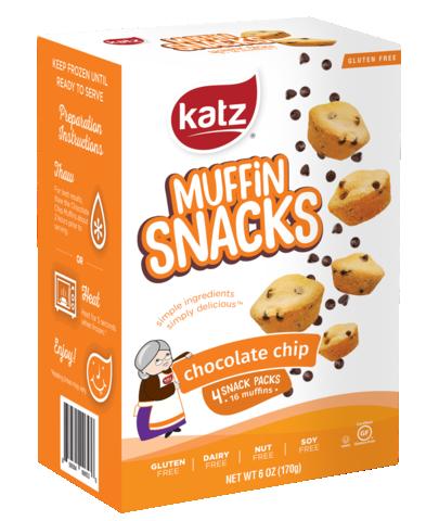 Katz GF DF Chocolate Chip Muffin Snacks 6oz